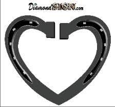 heart shaped horseshoes 7 best decal images on trailers customer