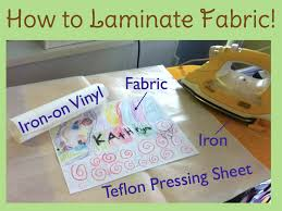 Vinyl Fabric For Kitchen Chairs by Diy How To Laminate Fabric Sewhere Com Vinyls Iron On