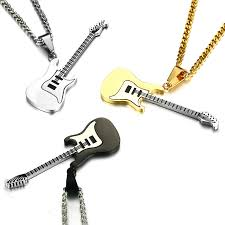 guitar necklace pendants images Buy gold guitar pendant and get free shipping on jpg