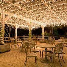 Solar Powered Outdoor Fairy Lights by 500leds 100m Warm White String Fairy Lights Party Wedding
