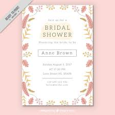 bridal invitation templates pretty bridal shower invitation template with colored flowers