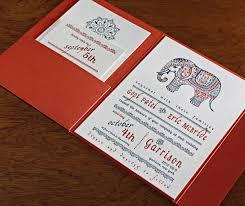 henna wedding invitations modern indian wedding invitation letterpressed with blue and rust