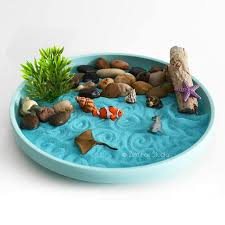 mini zen garden ocean desk accessory diy kit