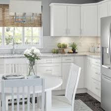 shaker style kitchen cabinets white white shaker kitchen cabinets kitchen the home depot
