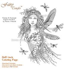 dragonflies fairy fairy tangles coloring booktemplate