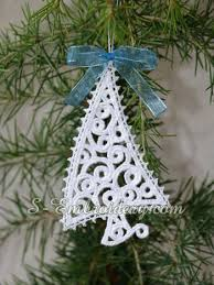tree free standing lace ornament sku 10639