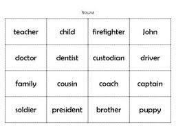 parts of speech sort teacherspayteachers com parts of speech