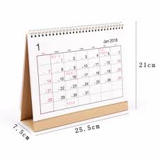 new 2018 desk top flip calendar month to view stand up office home table planner