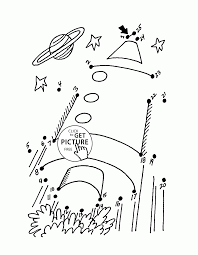 dot to dot rocket coloring pages for kids connect the dots