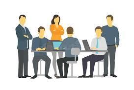 equipe bureau six gens d affaires de bureau de personnes de travail d équipe de