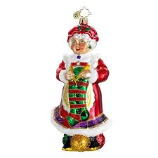 1016239 northern knitter knitting mrs claus ornament new 2012