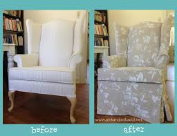 before and after wing chair slipcover gorgeous heavy linen u2026 flickr