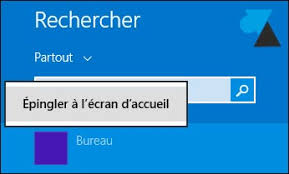 mettre favori sur bureau remettre l icone bureau sur l écran d accueil windowsfacile fr