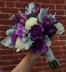 purple bouquets purple ivory bridal bouquets columbus ohio wedding flowers