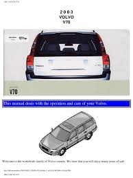 volvo v70 2003 user manual airbag seat belt