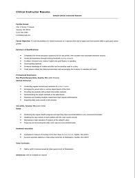 Clinical Resume Resume For Nursing Clinical Instructor Http Resumesdesign Com