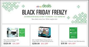 x box black friday crazy prices on ps4 wii u u0026 xbox one at ebay on black friday