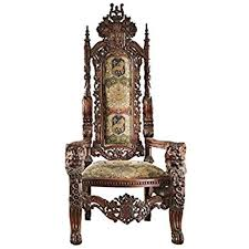 Baby Throne Chair Amazon Com Giant Mahogany Throne Chair For King Queen Or Maybe