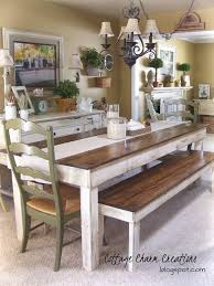 farm tables with benches best 25 farmhouse table with bench ideas on pinterest kitchen