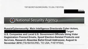 target black friday hack top secret nsa report details russian hacking effort days before