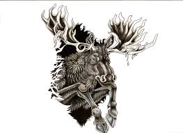 tribal elk tattoo designs pictures to pin on pinterest tattooskid