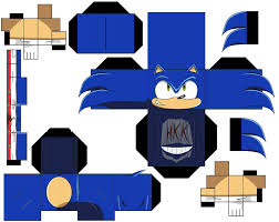 Sonic The Hedgehog Papercraft - modern sonic by hollowkingking on deviantart
