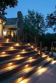 outdoor stairs lighting 287 best jardin terrasse bois images on pinterest landscaping
