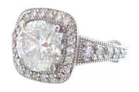 18k white gold round cut diamond engagement ring art deco antique