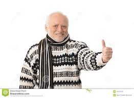 Old Guy Meme - image portrait happy senior man thumb up 16276754 jpg le