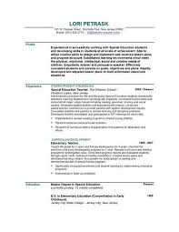 Kindergarten Teacher Resume Examples by Teaching Resume Examples Teacher Resume Examples Special