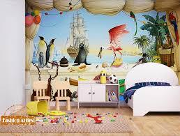 chambre kangourou personnalisé méditerranée mer navire papier peint mural pingouin