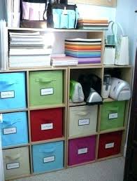 brown fabric storage boxes with lids three stripe canvas storage