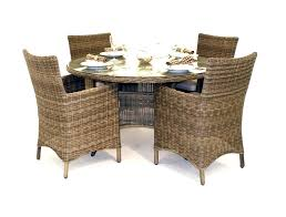wicker dining table with glass top dining table with rattan chairs furniture light brown square wooden