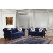 Blue Living Room Furniture Sets Merry Blue Living Room Furniture Sets In Minnsota Velvet Leather