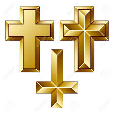vector massive golden christian crosses royalty free cliparts
