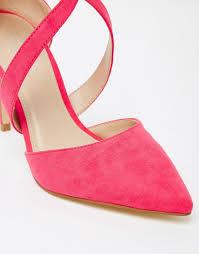 lyst carvela kurt geiger kross cross strap point heeled shoes in