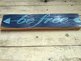 be free arrow wall art decor hand painted wood word sign for