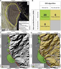 Map Of Death Valley Delineation Of Alluvial Fans From Digital Elevation Models With A