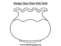 fish bowl coloring printable kids coloring