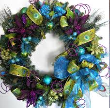 gorgeous peacock christmas wreath may use crafts wreaths