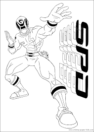power rangers color cartoon color pages printable cartoon