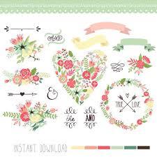 wedding flowers clipart wedding floral clipart digital wreath floral frames flowers