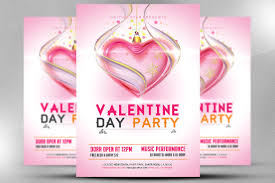valentines flyer template day flyer template flyer templates creative market