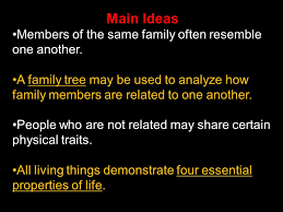ideas members of the same family often resemble one another