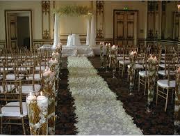 Fall Wedding Aisle Decorations - wedding ceremony decoration ideas for a church festive wedding
