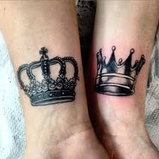 simple king and queen crown tattoos creativefan