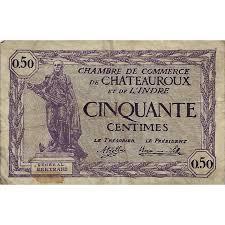 chambre de commerce chateauroux chateauroux chambre de commerce 50 centimes 11 08 1920 tres