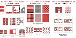 Poker Party Decorations Retro Red Black White Party Decorations 16 Free Printables By