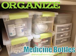 the easiest way to organize medicine bottles organizing