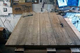 Cedar Barn Door Reclaimed Wood Diy Studio Desk Simplified Building